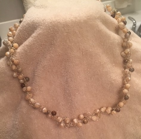 Princess Bead Crochet Necklace