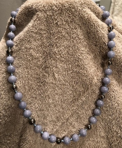 BABY BLUE BEADS NECKLACE